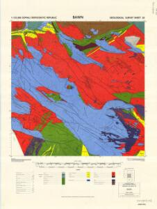1 : 125,000 Somaliland Protectorate. Geological Survey. D.C.S. 1076, Bawn