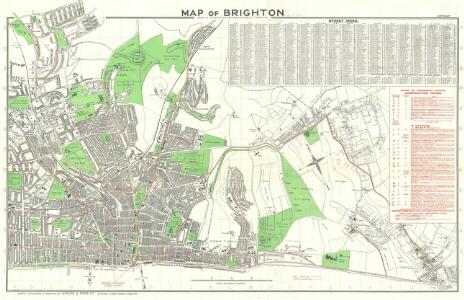 Map of Brighton Issued by the Brighton Corporation Publicity Committee