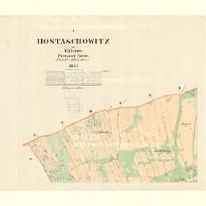Hostaschowitz - m0849-1-001 - Kaiserpflichtexemplar der Landkarten des stabilen Katasters
