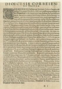 Corbeiensis Dioecesis pro ut nunc est, descriptio noua