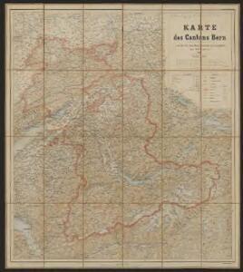 Karte des Cantons Bern