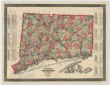New map of Connecticut