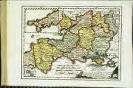 Des Königreichs England südlicher Theil, oder Cornwall, Devon Shire, Dorset S., Som[m]erset S., Bristol, Wilt S
