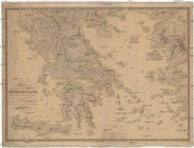 Charte von dem Koenigreiche Griechenland nebst Theilen der angraenzenden Laender des Osmanischen Reiches im Europa und Asien