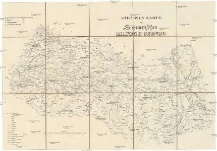 Strassen-Karte der Slavonischen Militair Grenze