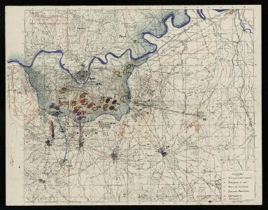 Toledo e dintorni: lavori difensivi eseguiti dal nemico  [C.T.V. Corpo Truppe Volontarie. Comando Artiglieria (Itàlia)]