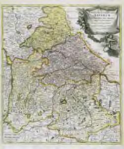 Superioris ac inferioris Bavariæ tabula elegantissima atque exactissima quippe ei annexæ regiones, ditiones, ac præfecturæ finitimæ