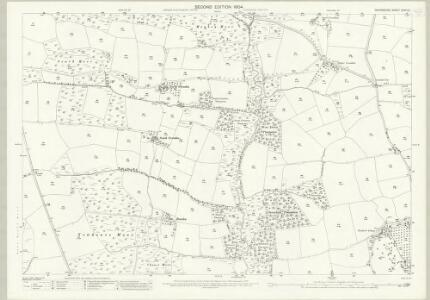 Devon XXXIII.9 (includes: Creacombe; Rose Ash; Witheridge) - 25 Inch Map
