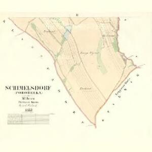 Schimelsdorf (Pohořelka) - m2343-1-002 - Kaiserpflichtexemplar der Landkarten des stabilen Katasters