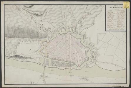 Plan der stad Arnhem