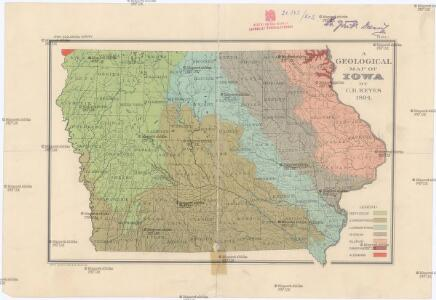 A geological map of Iowa