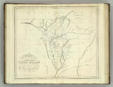 Map of the Country belonging to the Cherokee and Creek Indians.