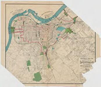 Louisville Title Co.'s revised map of Louisville, Ky. and environs