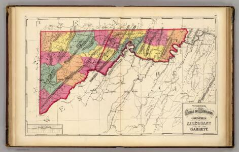 Topographical atlas of Maryland: counties of Alleghany and Garrett.