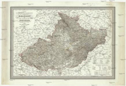 Neueste General- Post- und Strassenkarte Maehren und des Herzogthums Schlesien