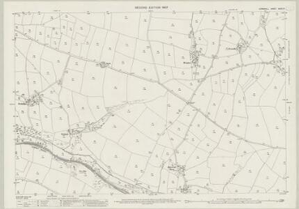 Cornwall XXXIX.15 (includes: Cubert; Newlyn; Perranzabuloe) - 25 Inch Map