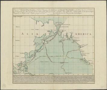Charte des Stillen Weltmeers im Nördlichen Aequator und der Küsten die es auf beiden Seiten einschraenken : nach den neuesten, von den Spaniern, Russen und Engellaendern bis 1780 gemachten Entdeckungen