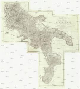 General Karte von dem Koenigreiche Neapel in 4 Blättern mit einem Theile von Sicilien und der ganzen Insel Malta