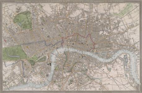 NEW PLAN OF LONDON, WESTMINSTER AND SOUTHWARK
