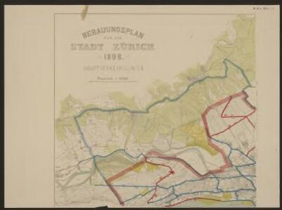 Bebauungsplan für die Stadt Zürich 1898