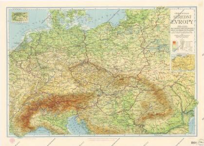 Příruční mapa střední Evropy