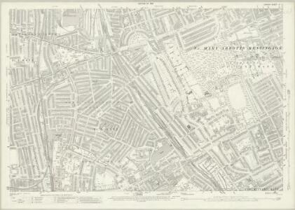 London (1915- Numbered sheets) IV.15 (includes: Fulham; Hammersmith; Kensington) - 25 Inch Map