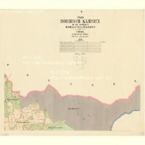 Böhmisch Kamnitz - c0951-1-002 - Kaiserpflichtexemplar der Landkarten des stabilen Katasters