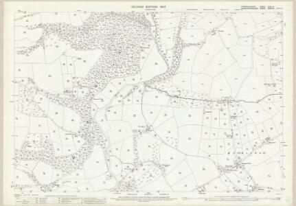 Pembrokeshire XXIV.13 (includes: Llandissilio East; Llawhaden) - 25 Inch Map