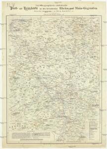 Geographisch-statistische Post- und Resekarte zu den besuchtesten Rhein- und Main-Gegenden