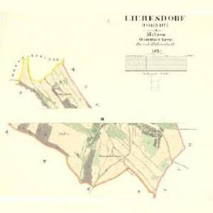 Liebesdorf (Obindy) - m2094-1-001 - Kaiserpflichtexemplar der Landkarten des stabilen Katasters