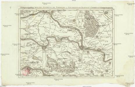 Carte particuliere des environs de Nimmegen ou Nieumegue de Grave et Emmerick