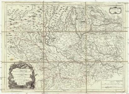 Nouvelle carte de l'etat Milan avec une partie du Montferrat, du Piemont et de la Suisse