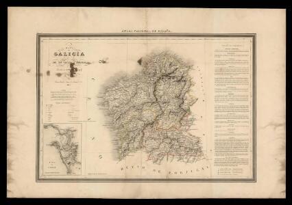 Mapa de Galicia con las nuevas divisiones
