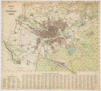 Plan von Nürnberg 1909