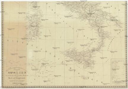 Karte von Italien nebst den nördlich angraenzenden Laendern