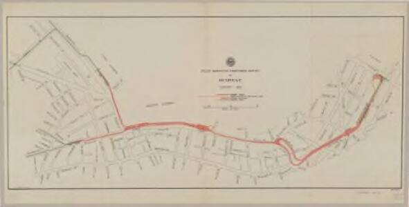 Plan showing proposed route of subway