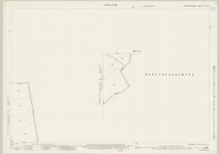 Northamptonshire XX.5 & XX.9 (includes: Conington; Denton and Caldecote; Folksworth and Washingley; Glatton; Great Gidding; Lutton; Stilton) - 25 Inch Map