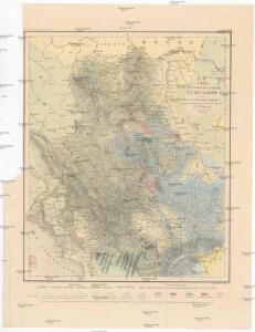 Carte d'une partie de la Servie et de l'Albanie