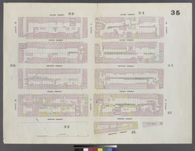 Plate 35: Map bounded by 6th Street, Avenue D, Houston Street, Pitt Street, 2nd Street, Avenue B