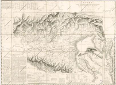 Carta delle stazioni militari, navigazione e poste del Regno d ́Italia...