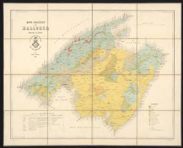 Mapa geológico de Mallorca