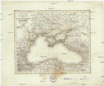 Neueste Karte der Küstenländer des Schwarzen Meeres