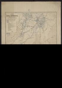 Carte d'une partie du Sahara septentrional