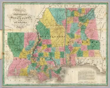 Louisiana, Mississippi, Alabama.