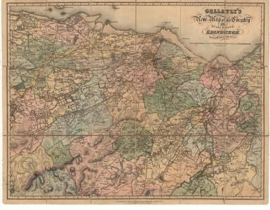 Gellatly's New Map of the country 12 miles round Edinburgh.