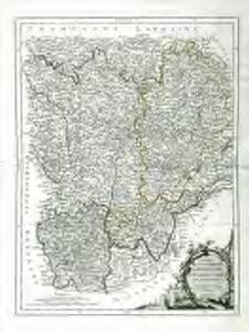Carte des gouvernements de Bourgogne, de Franche Comté et de Lyonnois