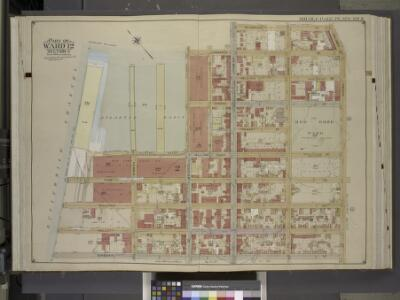 Brooklyn, Vol. 1, Double Page Plate No. 9; Part of    Ward 12, Section 2; [Map bounded by Commerce St., Seabring St., Columbia St.,    Dwight St., Dkeman St.; Including  Wolcott St., Sullivan St., King St., Clinton  Wharf, Commerce St.]