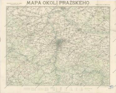 Mapa okolí Pražského