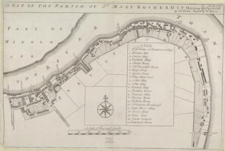 A MAP OF THE PARISH OF ST. MARY ROTHERHITH