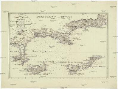 Carte d'une partie de la cote de Provence de la Rade et des Îles dHyeres